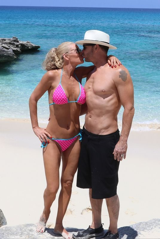 JENNY MCCARTHY in Bikini at a Beach in Turks and Caicos 08/31/2019