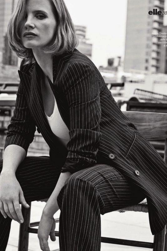 JESSICA CHASTAIN in Elle Magazine, Italy September 2019