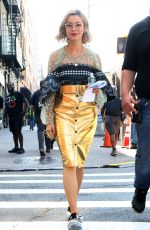 JULIA CHAN on the Set of Katy Keene Series in New York 09/23/2019