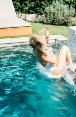 JULIANNE HOUGH in a White Swimsuit at a Pool - Instagram Photos 09/08/2019