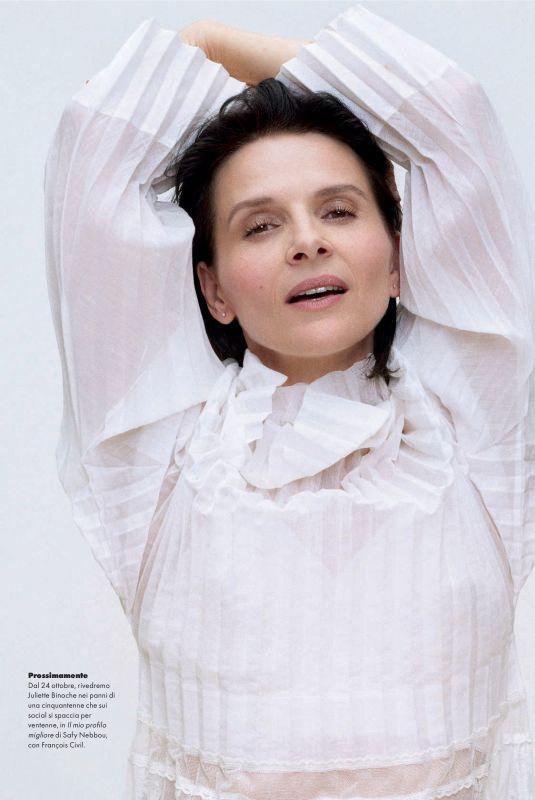 JULIETTE BINOCHE in Elle Magazine, Italy October 2019