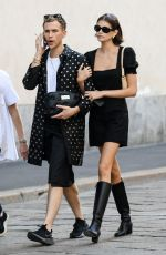 KAIA GERBER and CAMILA MENDES Out at Milan Fashion Week 09/21/2019