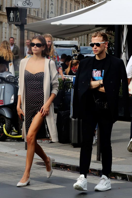 KAIA GERBER and Tommy Dorfman Leaves L