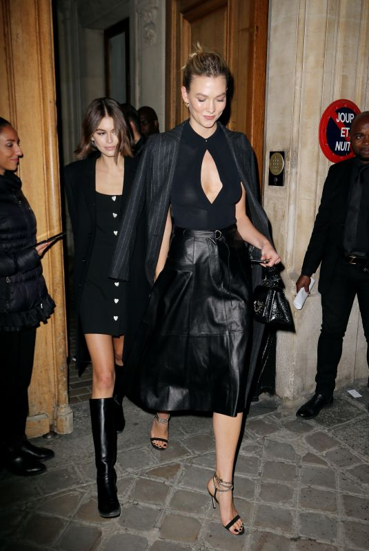 KARLIE KLOSS and KAIA GERBER at Karl Lagerfeld Tribute in Paris 09/25/2019