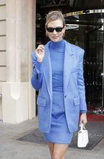 KARLIE KLOSS Leaves Her Hotel in Paris 09/24/2019