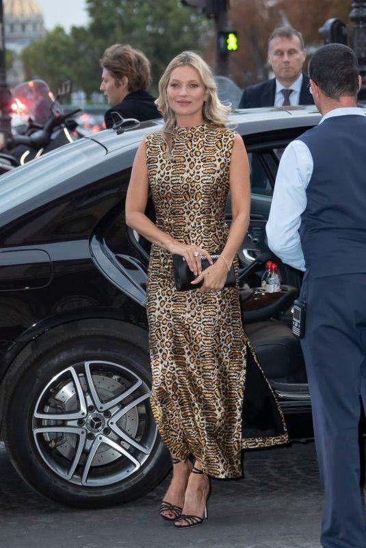 KATE MOSS Arrives at Hotel de Crillon in Paris 09/23/2019