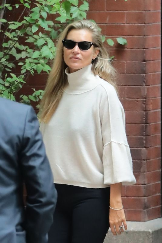 KATE MOSS Leaves Her Hotel in New York 09/06/2019
