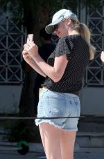 KATE UPTON in Denim Shorts at Panathenaic Stadium in Athens 09/03/2019