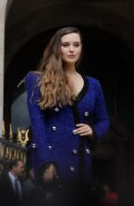 KATHERINE LANGFORD at Balmain Show at Paris Fashion Week 09/27/2019