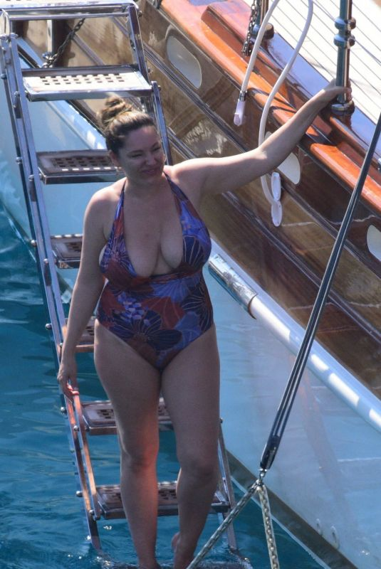 KELLY BROOK in Swimsuit on Holiday in Turkey 08/29/2019
