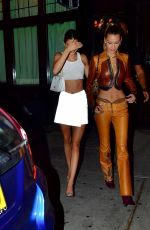 KENDALL JENNER and BELLA HADID Out for Dinner at Carbone in New York 09/09/2019