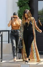 KOURTNEY KARDASHIAN and MALIKA HAQQ Out for Lunch in Los Angeles 09/16/2019