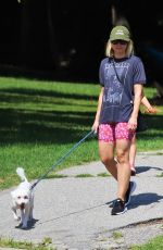 KRISTEN BELL Out with Her Dog in Los Angeles 09/18/2019