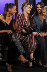 KRISTEN STEWART, NAOMI SCOTT, ELIZABETH BANKS and ELLA BALINSKA Promotes Charlies Angels at Jimmy Kimmel Live 09/23/22019