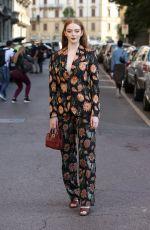LARSEN THOMPSON at Salvatore Ferragamo Show at Milan Fashion Week 09/21/2019