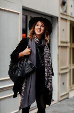 LEA FRANCOIS Arrives at Christophe Guillarme Show at Paris Fashion Week 09/25/2019