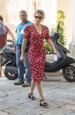 LEA SEYDOUX on the Set of No Time to Die, James Bond Movie in Matera 09/11/2019