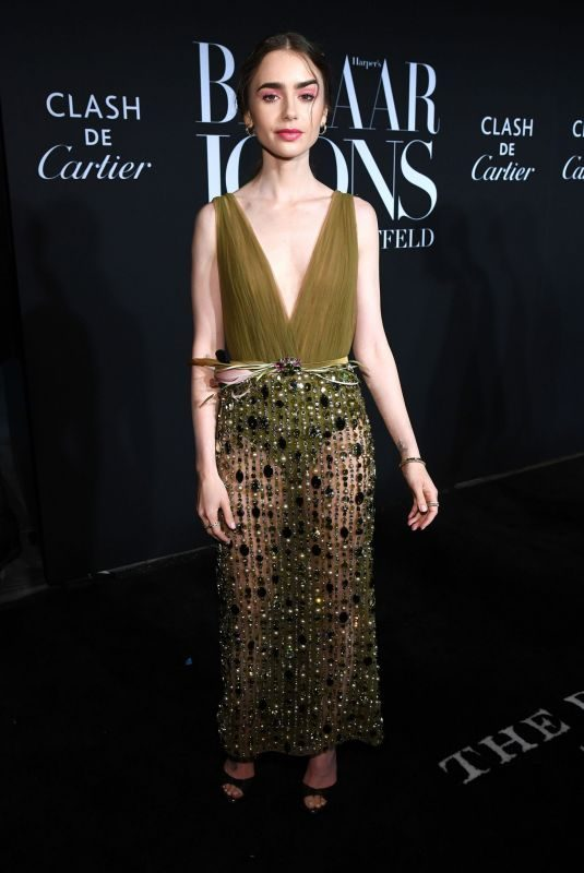 LILY COLLINS at Harper's Bazaar Icons in New York 09/06/2019