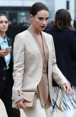 LILY JAMES Arrives at Burberry Fashion Show at LFW in London 09/16/2019