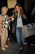 LOUISE REDKNAPP Leaves Palace Theatre in Manchester 09/21/2019