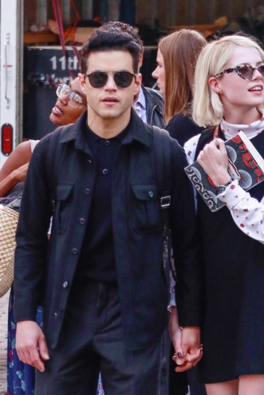 LUCY BOYNTON and Rami Malek Out in New York 09/27/2019