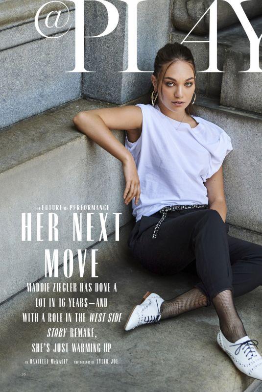 MADDIE ZIEGLER in Marie Claire Magazine, October 2019