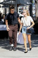 MAIKA MONROE and Joe Keery Out Shopping in Beverly Hills 09/18/2019