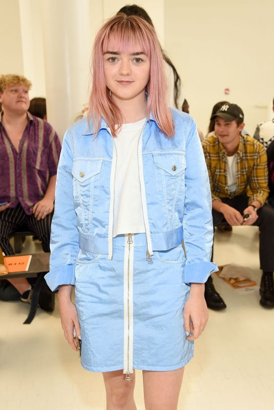 MAISIE WILLIAMS at Helmut Lang Show at New York Fashion Week 09/07/2019