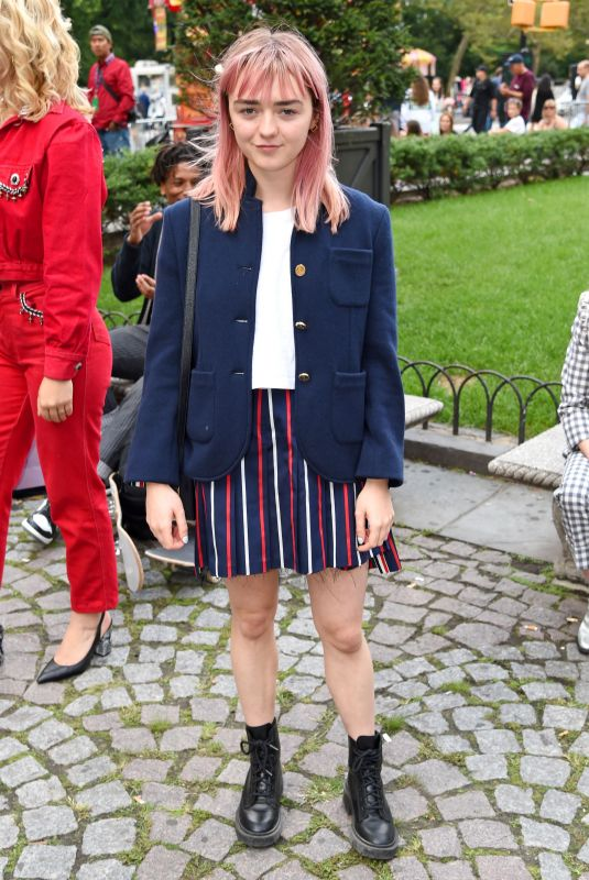 MAISIE WILLIAMS at Thom Browne The Officepeople Performance Installation at New York Fashion Week 09/07/2019