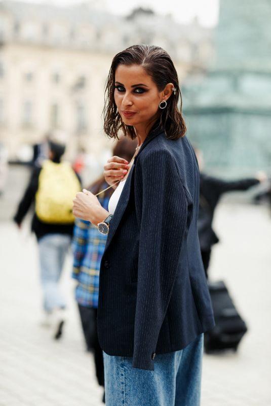MALIKA MENARD Arrives at Guy Laroche Show at Paris Fashion Week 09/25/2019