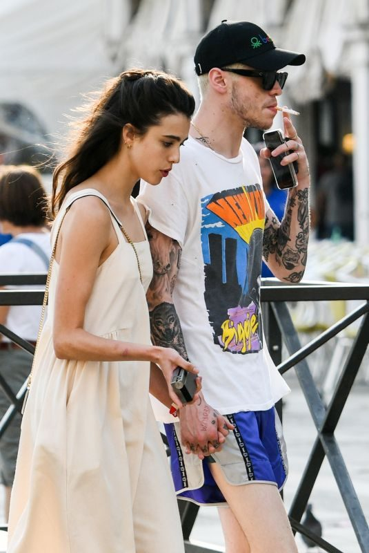 MARGARET QUALLEY and Pete Davidson Out in Venice 09/02/2019