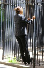 MARISKA HARGITAY on the Set of Law and Erder: Special Victims Unit in New York 09/04/2019