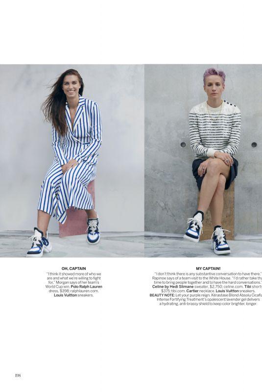 MEGAN RAPINOE and ALEX MORGAN in Vogue Magazine, October 2019