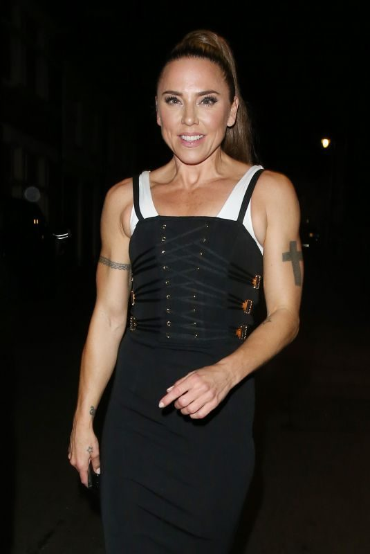 MELANIE CHISHOLM at Annabel's Private Members Club in Mayfair in London 09/12/2019