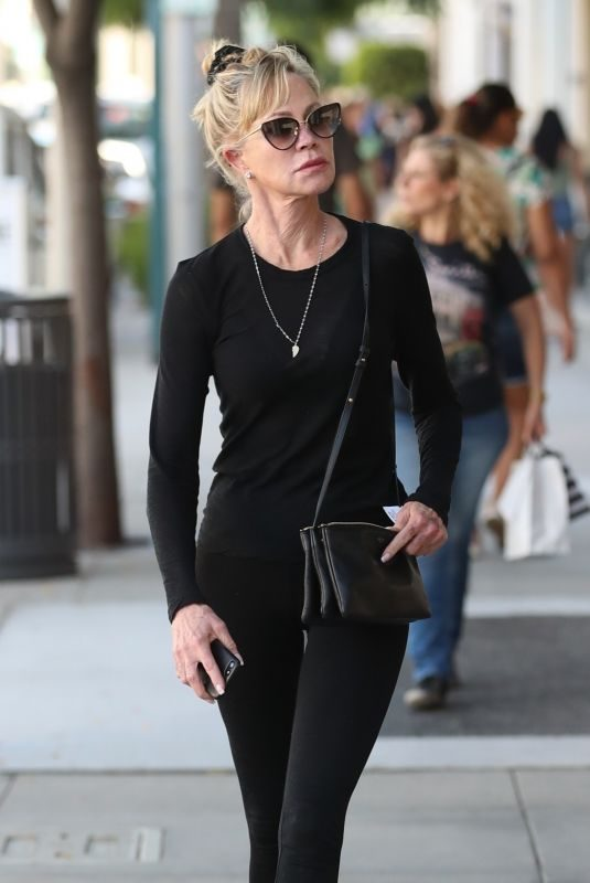 MELANIE GRIFFITH Out Shopping in Beverly Hills 09/17/2019