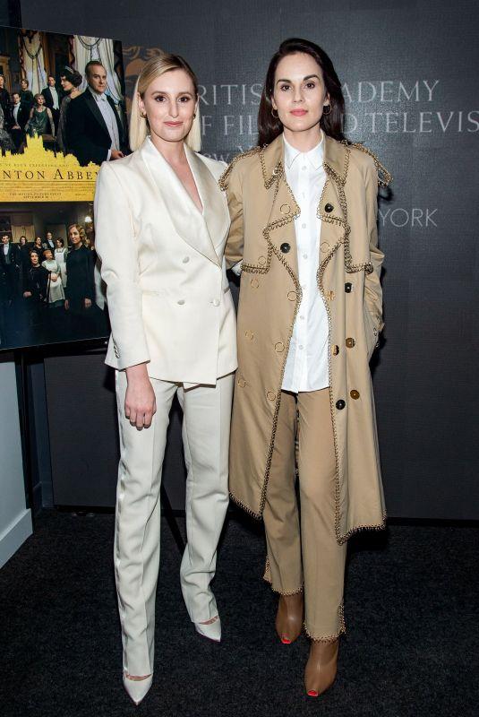 MICHELLE DOCKERY and LAURA CARMICHAEL at Bafta Downton Abbey Screening in New York 09/16/2019