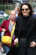 MICHELLE DOCKERY Arrives at Global Offices in London 09/06/2019