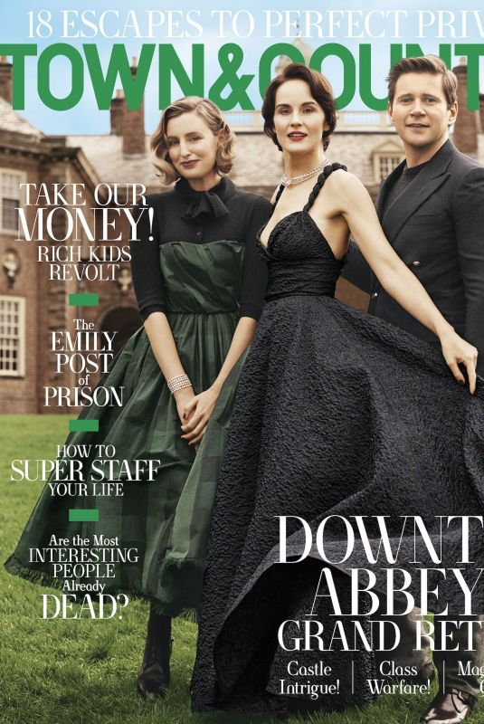 MICHELLE DOCKERY, LAURA CARMICHAEL and Allen leech in Town & Country Magazine, October 2019