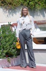 MICHELLE HUNZIKER Arrives at Excelsior Hotel in Venice 09/01/2019