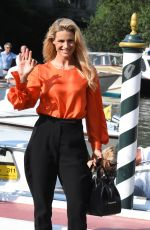 MICHELLE HUNZIKER Out at 76th Venice Film Festival 08/31/2019