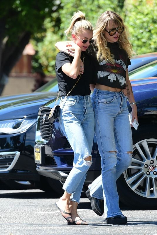 MILEY CYRUS and KAITLYNN CARTER Out in Los Angeles 09/14/2019