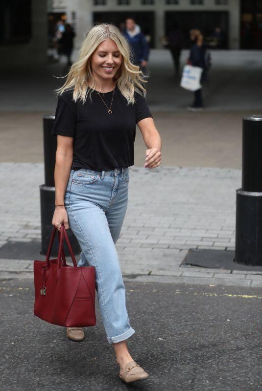 MOLLIE KING Leaves BBC Studio in London 09/09/2019