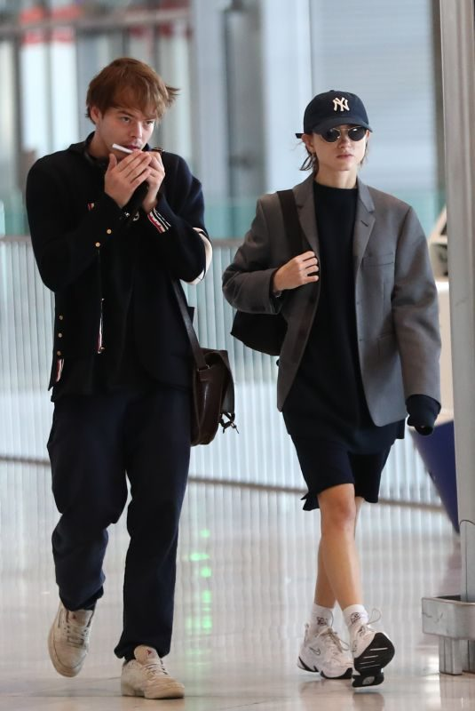 NATALIA DYER and Charlie Heaton at CDG Airport in Paris 09/23/2019