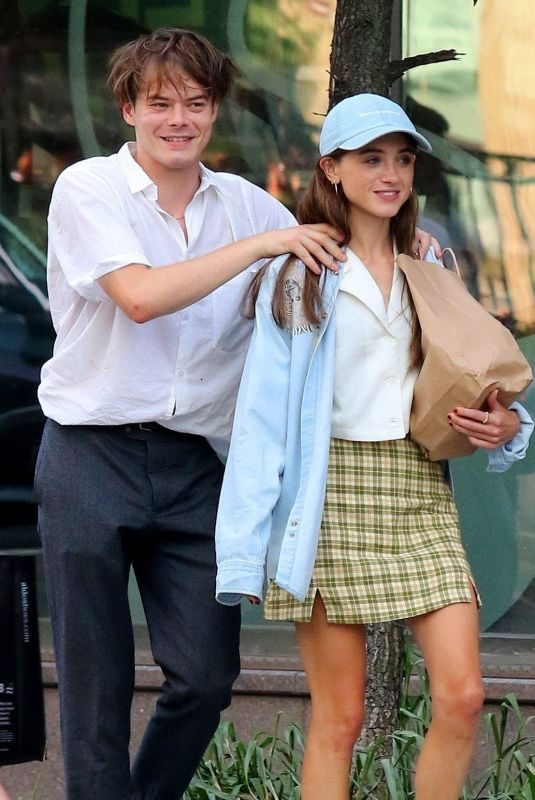 NATALIA DYER and Charlie Heaton Out for Lunch in New York 09/01/2019