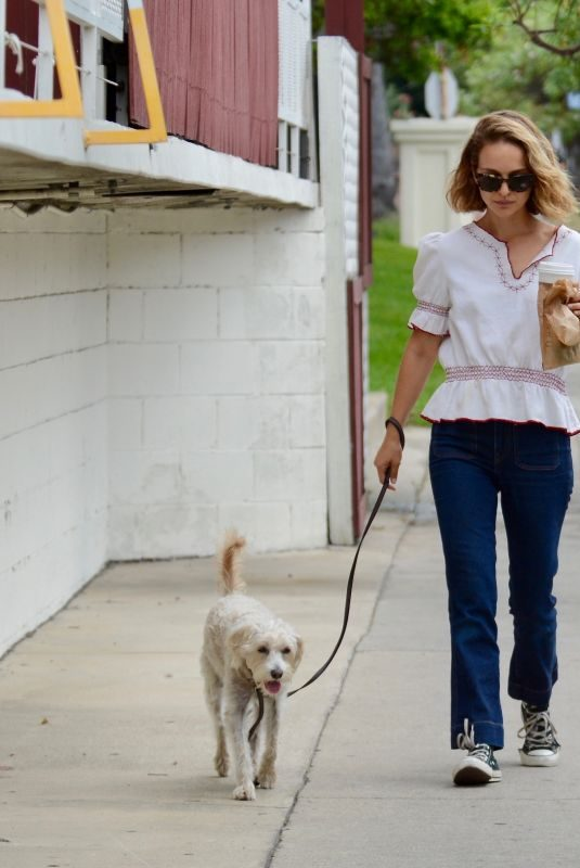 NATALIE PORTMAN Out with Her Dog in Los Feliz 09/26/2019
