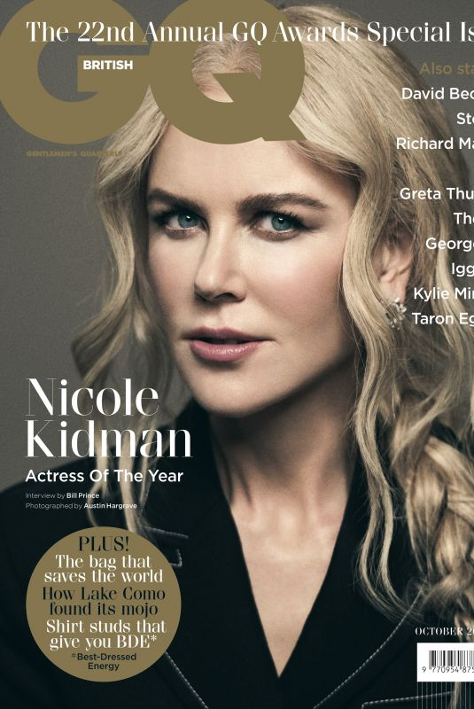NICOLE KIDMAN in GQ Magazine, UK October 2019