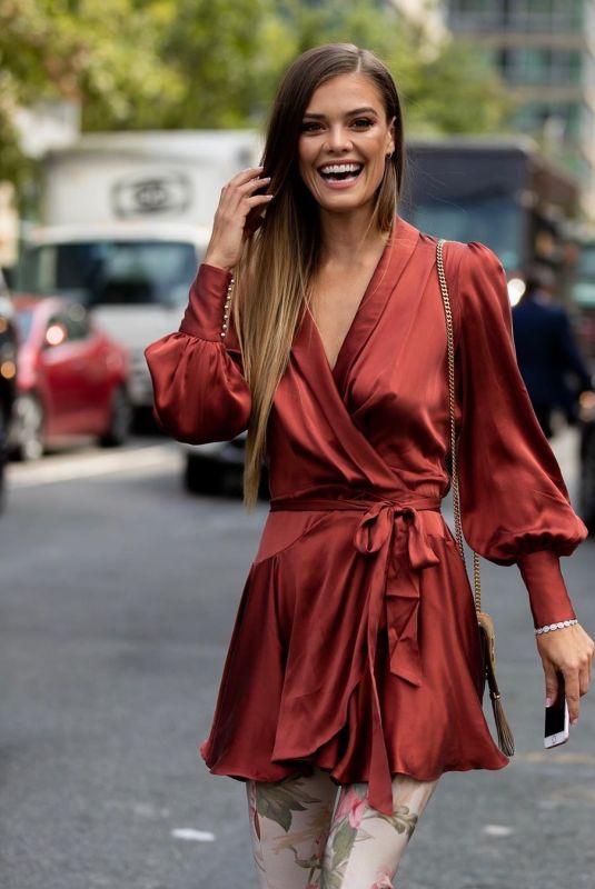 NINA AGDAL Out at 2019 New York Fashion Week 09/09/2019
