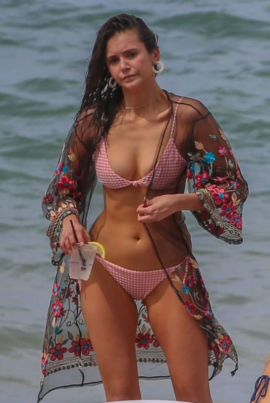 NINA DOBREV in Bikini at a Beach in Maui 08/31/2019