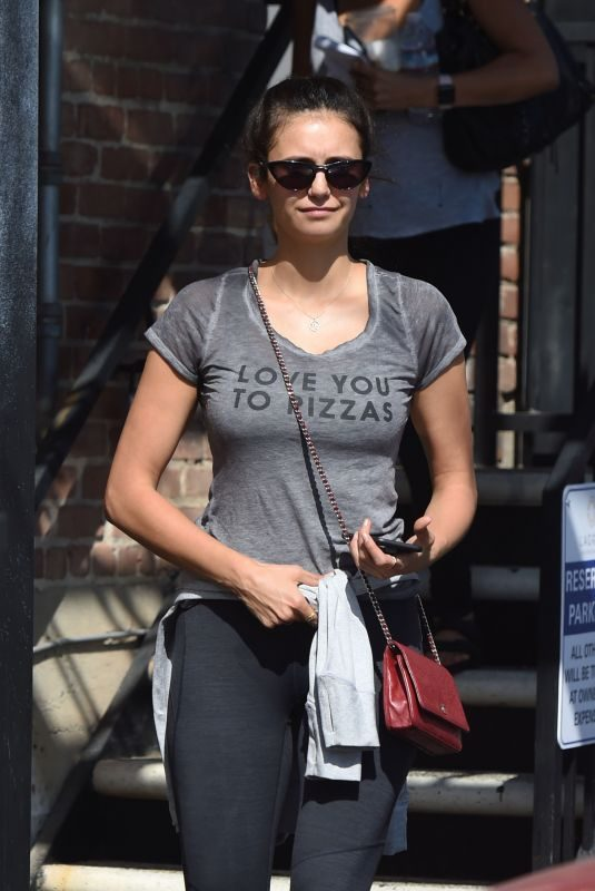 NINA DOBREV Leaves a Gym in West Hollywood 09/10/2019