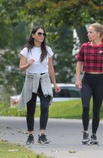 OLIVIA MUNN Out with Her Trainer in Montreal 09/22/2019